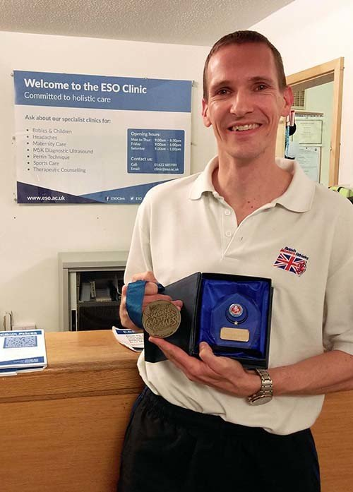 ESO Clinic Patient awarded Kent Senior Athlete of 2017